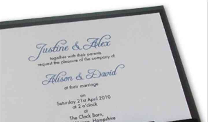 Flat Bow Traditional Wedding Stationery