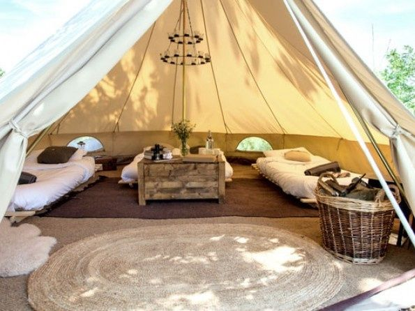 Bell tent interior