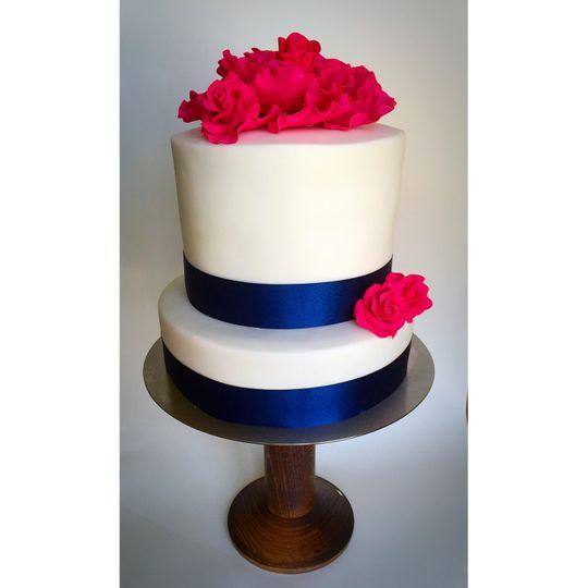 Simple bold wedding cake