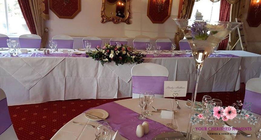 Purple Wedding Dressing