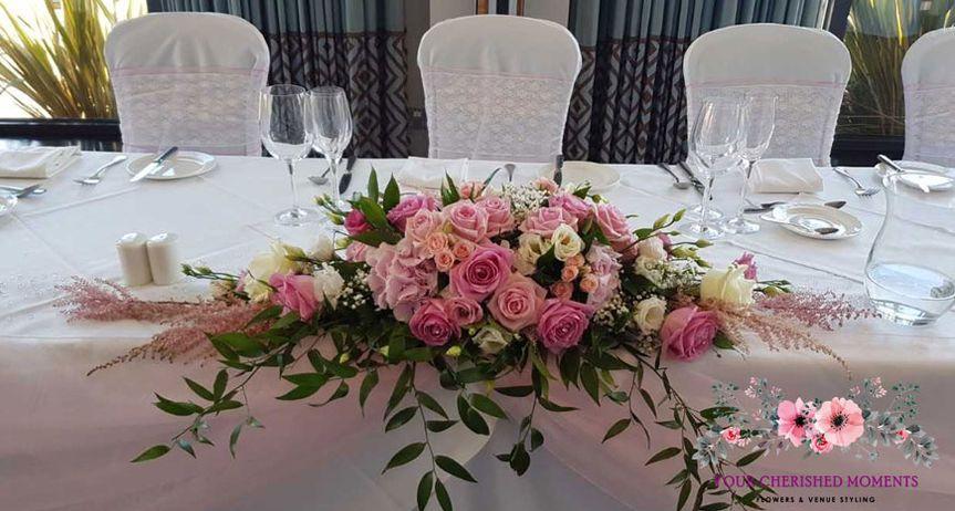 Pink Top Table Arrangement