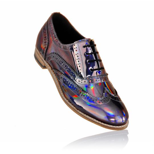 Unisex brogues holographic
