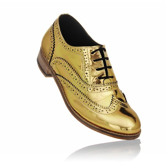 Unisex brogues gold