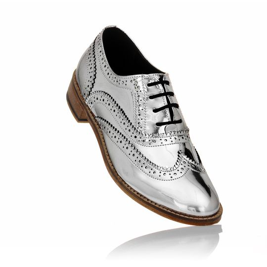 Unisex brogues chrome