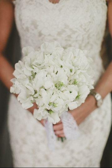 Beautiful sweet pea bouquet