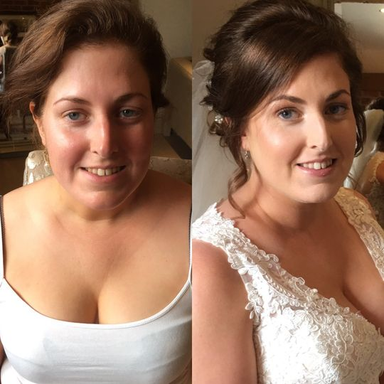 Bride Anna's before and after.