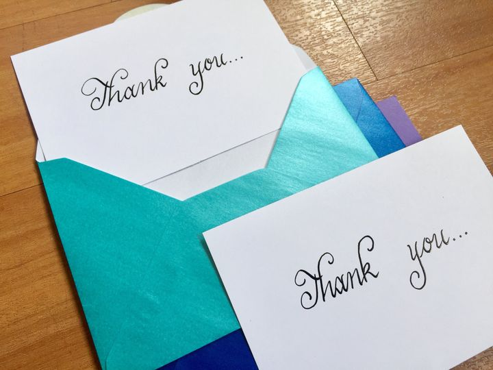 Luxury thank you cards