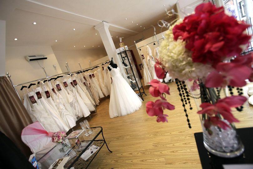 Spacious bridal showroom