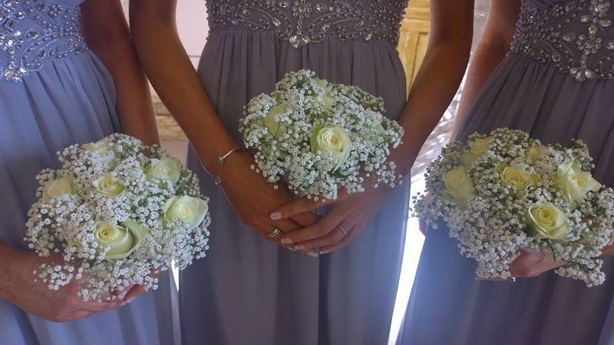 Bridesmaids gyp bouquet