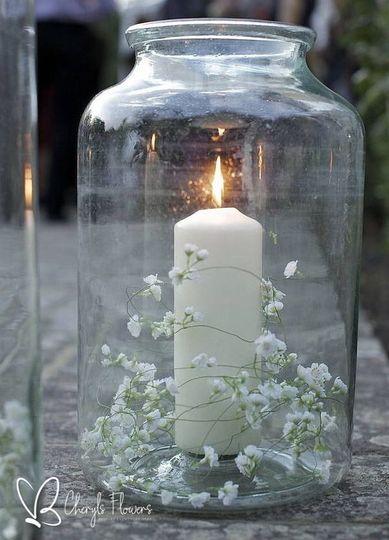 Vase & Candles