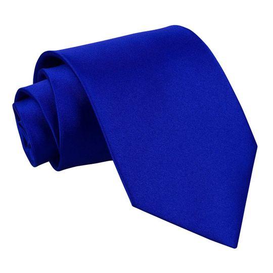 Extra long tie - royal blue