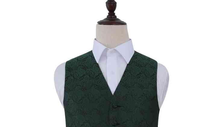 Mens emerald green waistcoat