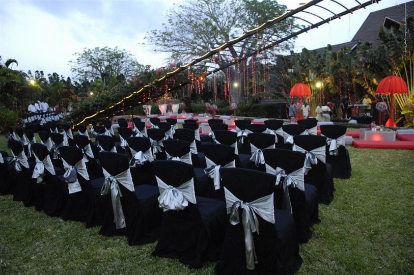 Black covers with silver sashes