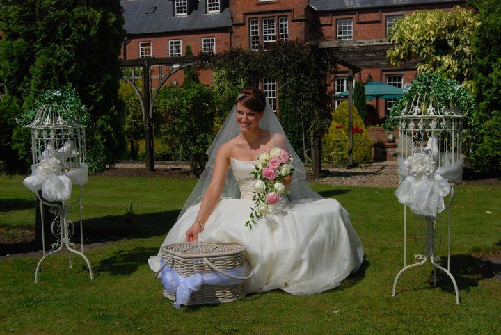 Wedding doves at nunsmere hall