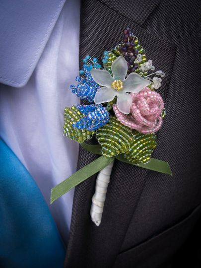 Wild flower buttonhole