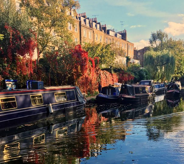 Canal boats in Camden
