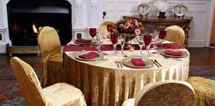 Gold and red fabric