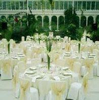Cream tablecloth