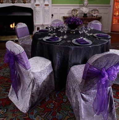 Purple tablecloth