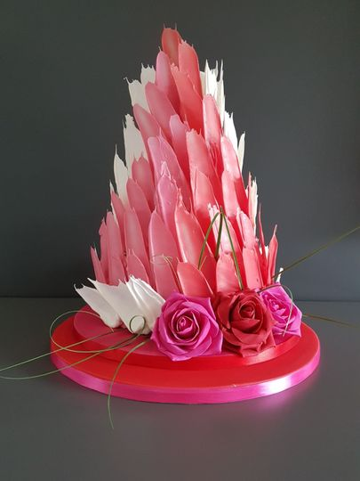 Coloured shards wedding cake