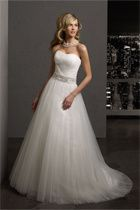 Sleek and elegant wedding dress