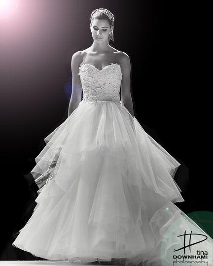 Monochrome bride