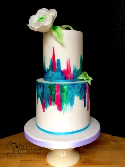 Modern and colourful cake