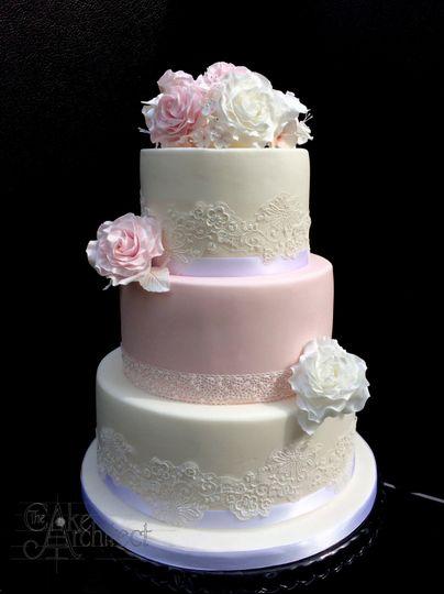 Beautiful handmade rose cake