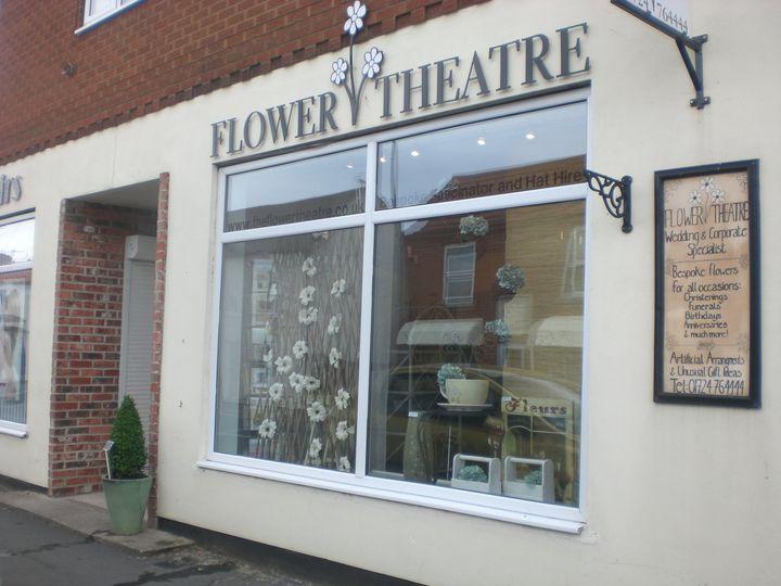 Flower theatre shop window