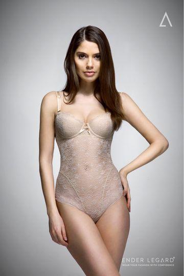 UMA backless bodysuit nude