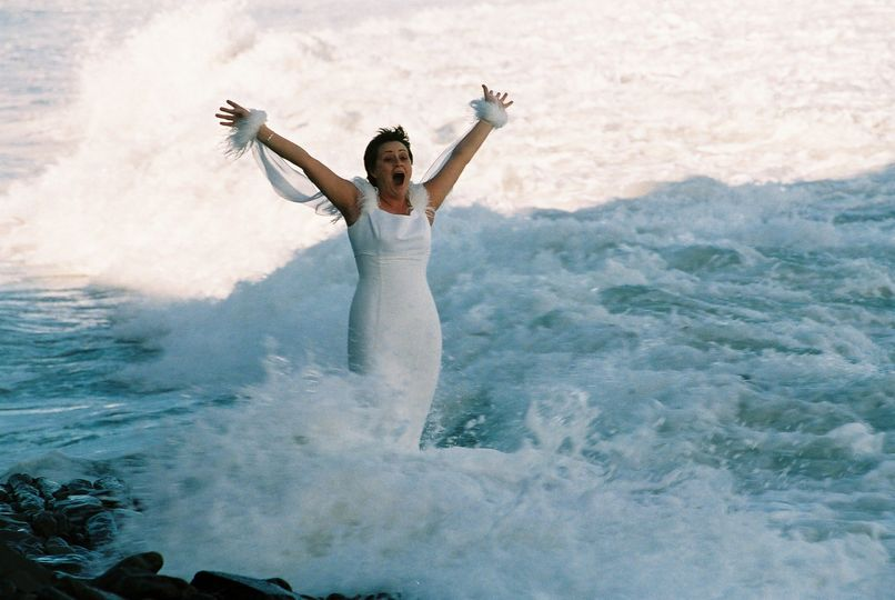 Wedding in the waves