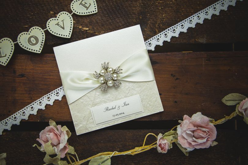 Diamonds & pearls invitation