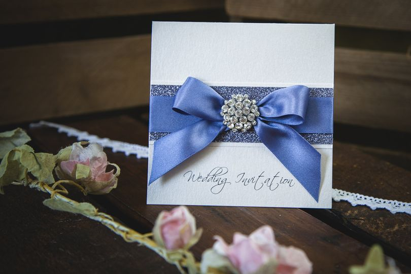 Glamour wedding invitation