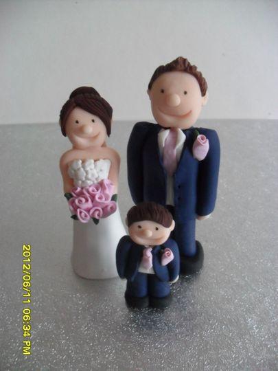 Bride and groom plus pageboy