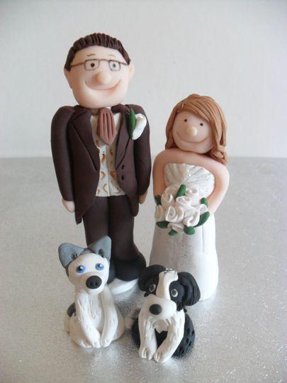 Dog loving bride and groom