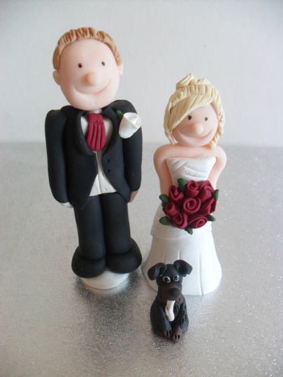 Bride, groom and dog