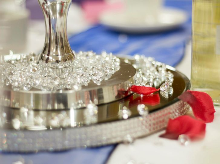 Diamante mirror plates