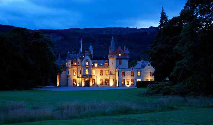 Aldourie Castle at Night