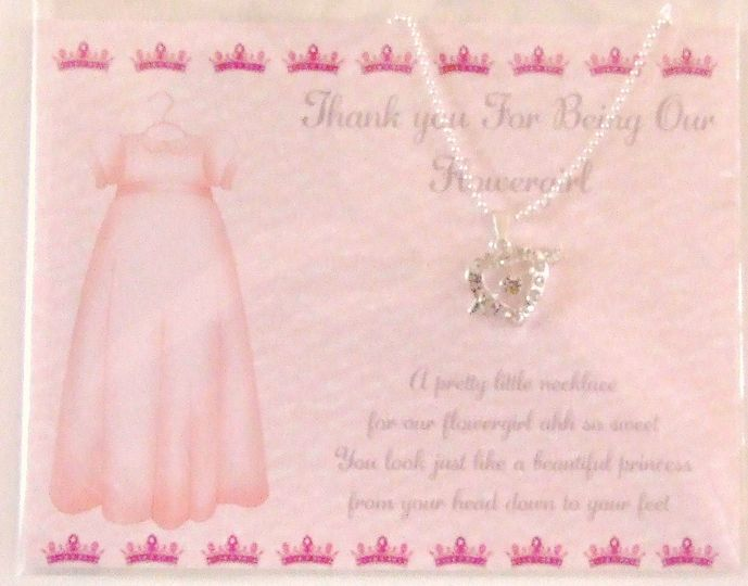 Thank You Flowergirl Necklace