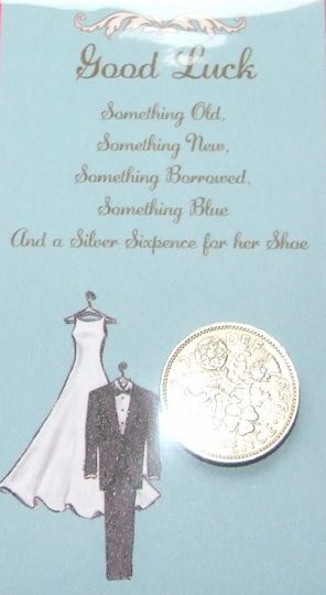Bride's Good Luck Sixpence