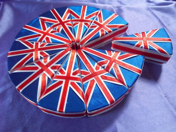 Union Jack Cake Slices