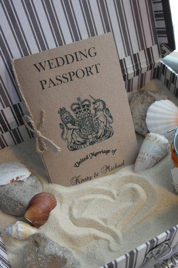 Rustic Passport invitation