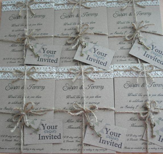 Rustic invite