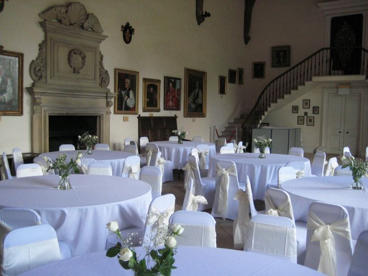 The Great Hall set up