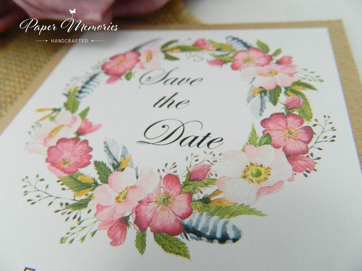 Boho Save the Date