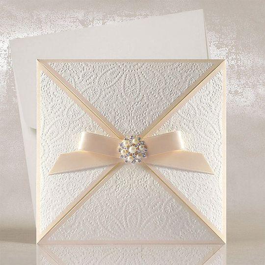 Chantilly Lace wedding card