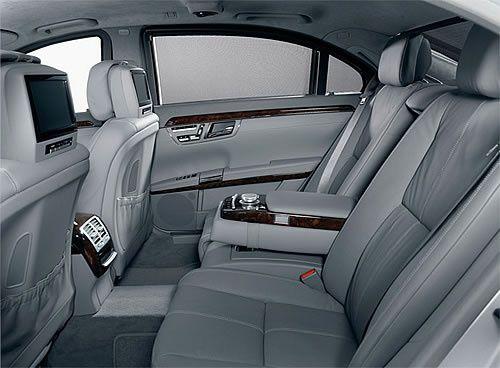 Inside the s-class mercede