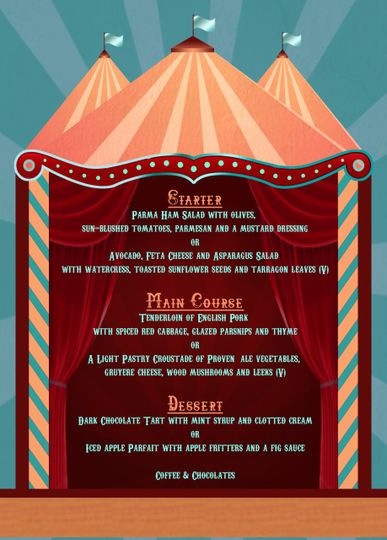 carnival menu from dreamcatcher events photo 12