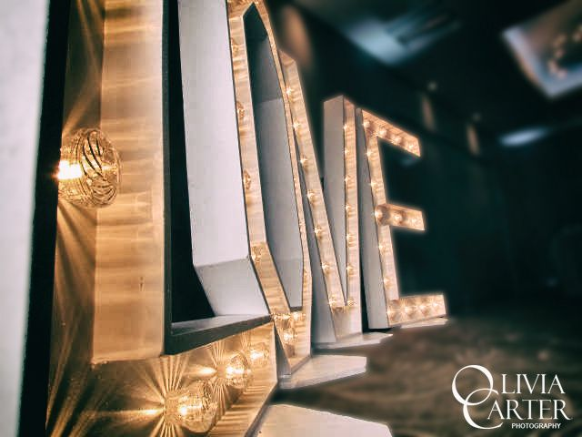 Love letters at wedding reception
