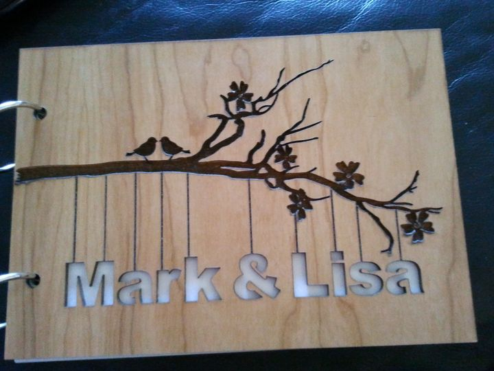 Personalised laser cut guest book